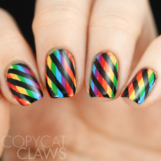 Gorgeous rainbow nail art designs you can do yourself style gorgeous rainbow nail art designs you can do yourself prinsesfo Choice Image