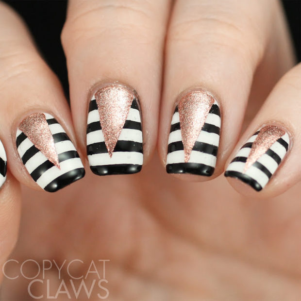16 Gorgeous Nail Designs You Can Do With Scotch Tape Style Motivation