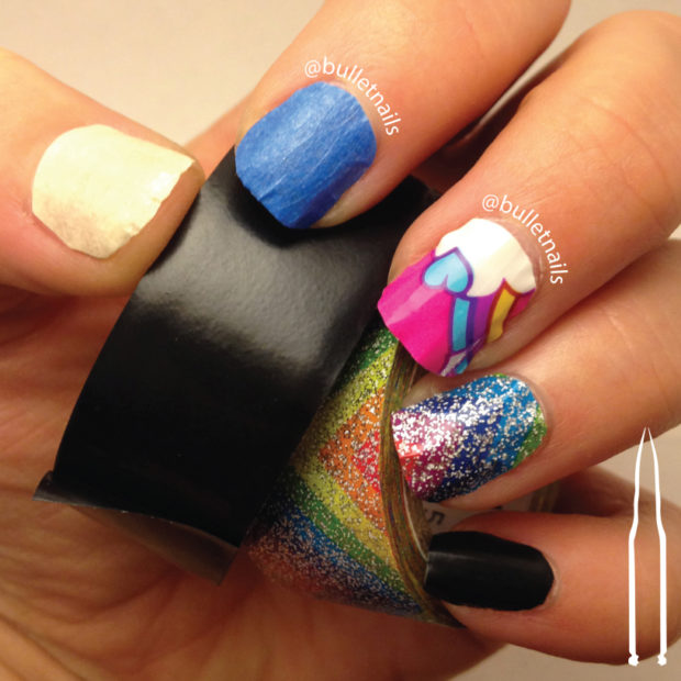 Tape Nail Art Designs: 16 Gorgeous Nail Designs You Can Do With Scotch Tape