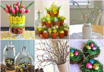 19 Beautiful DIY Easter Centerpiece Ideas - floral centerpiece, Easter Centerpiece, diy Easter decorations, DIY Easter Centerpiece, diy Easter, diy centerpiece