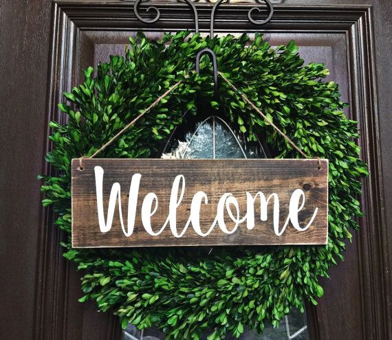 15 amazing diy welcome signs for your front porch style for Diy welcome home decorations