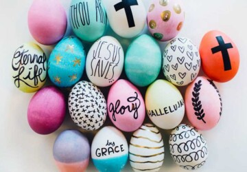 15 Simple and Easy DIY Easter Eggs Decorating Ideas - DIY Easter Eggs Decorations, diy Easter eggs decoration, DIY Easter Egg Decor Ideas, DIY Easter Egg, DIY Easter Decor Projects, diy Easter