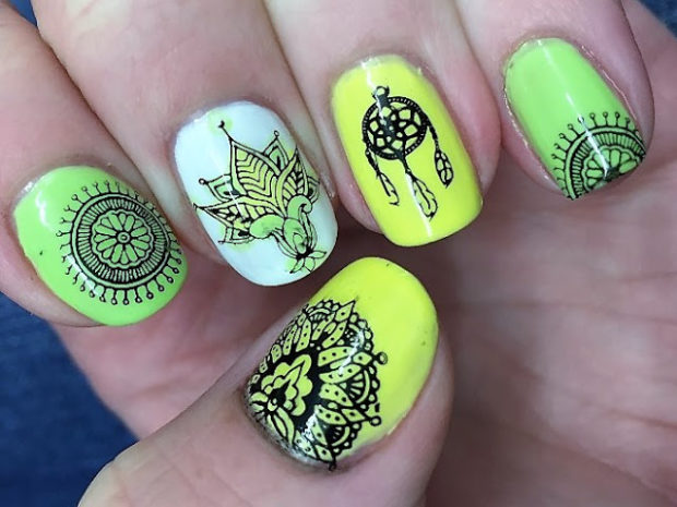Hippy and Boho Nail Art Ideas for Cute Nails