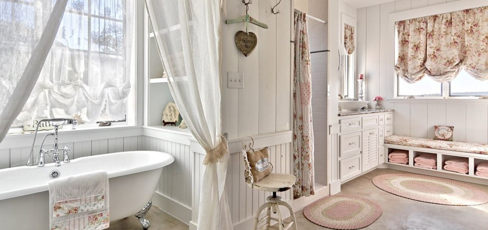 terrific shabby chic bathroom ideas | 15 Lovely Shabby Chic Bathroom Decor Ideas - Style Motivation