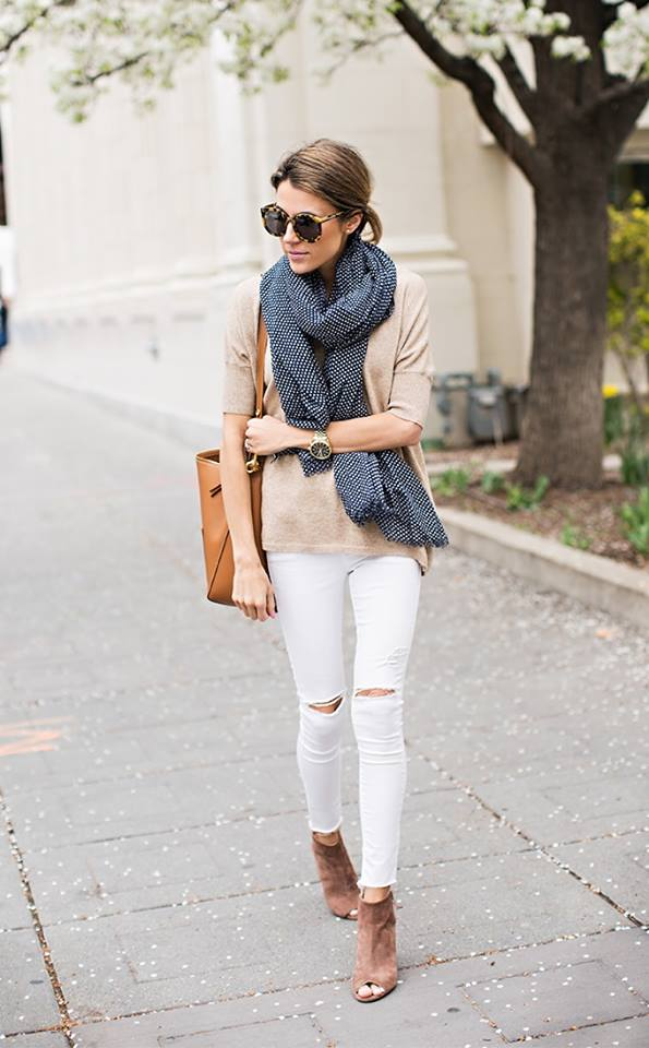 17 Cute Preppy Outfits For Spring To Copy (Part 2) - spring stripes outfit ideas, print spring outfit, preppy outfit ideas, preppy
