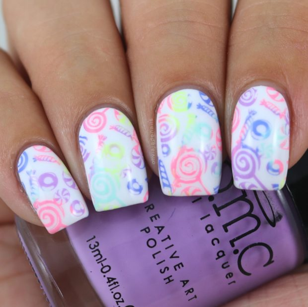 Candy Nail Art Ideas in Pastel and Light Colors