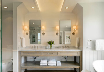 18 Luxury Farmhouse Bathroom Design Ideas - Farmhouse design, Farmhouse Bathroom Design Ideas, Farmhouse Bathroom, Bathroom Design Ideas