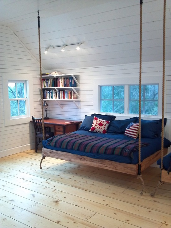 17 Great Ideas for Hanging Beds to Add Fun to Your Space - kids bedroom design, Hanging Beds, Hanging Bed, bedroom design ideas, bed idea, bed designs, bed