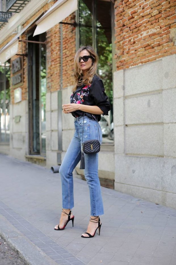 18 Cool Ways to Style Jeans This Summer - summer outfit ideas, summer jeans outfit ideas, jeans outfit ideas, casual summer outfit