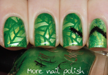 Creative Green Nail Art Ideas inspired by Rainforest - spring nail art, rainforest nail art, neon summer nail art, green nail polish, green nail art