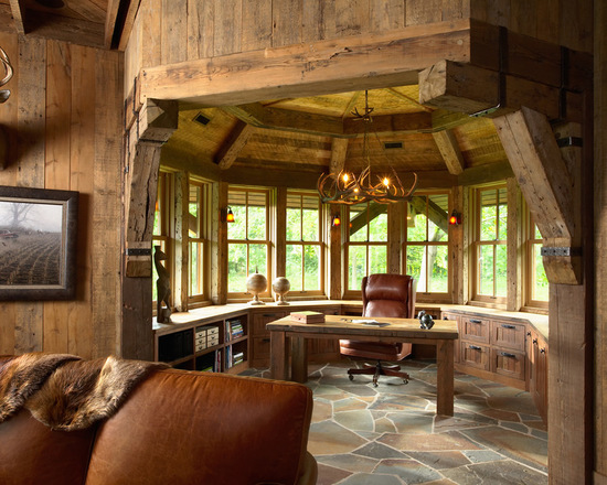 18 great cabin home office design ideas in rustic style - style