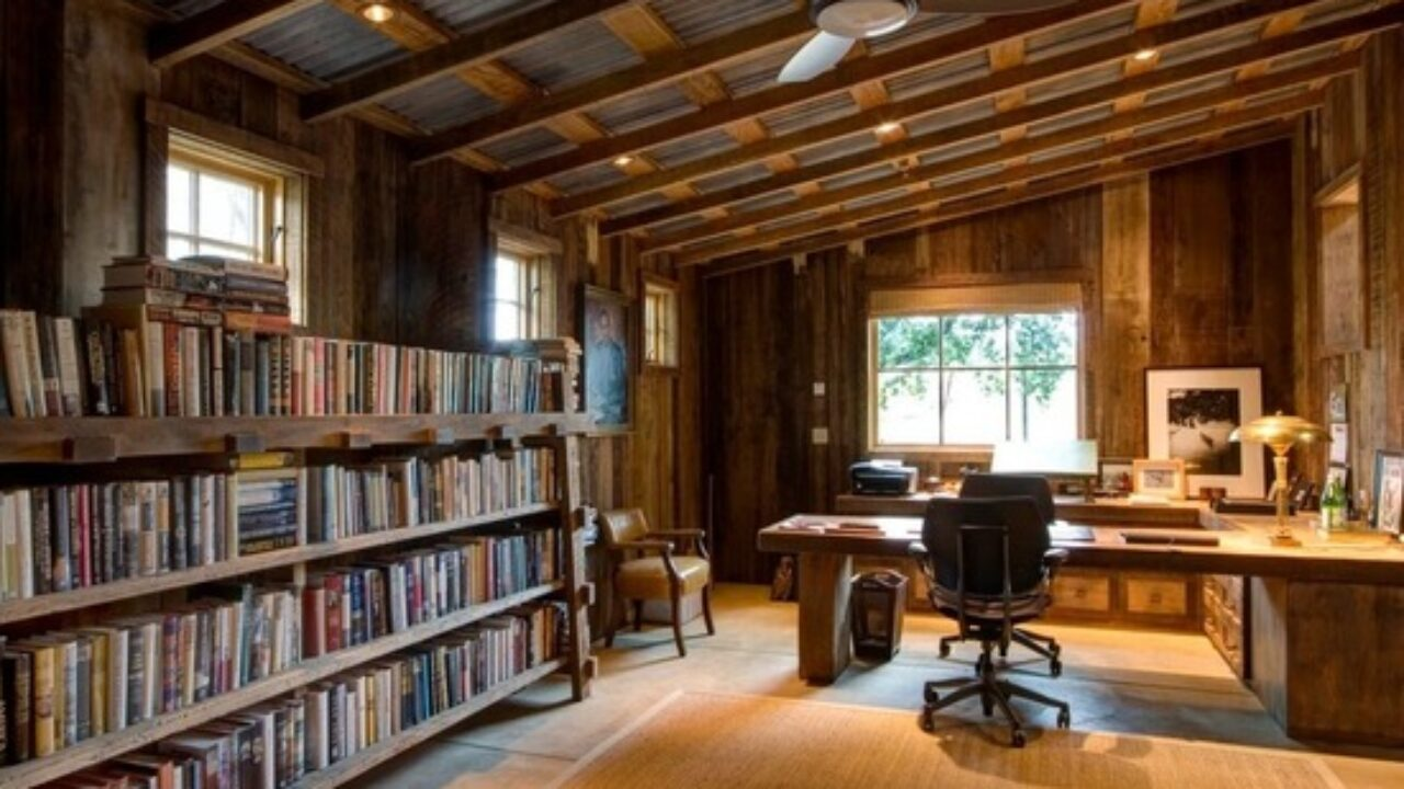 18 Great Cabin Home Office Design Ideas in Rustic Style ...