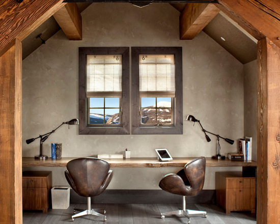 home office cabin. 18 Great Cabin Home Office Design Ideas In Rustic Style