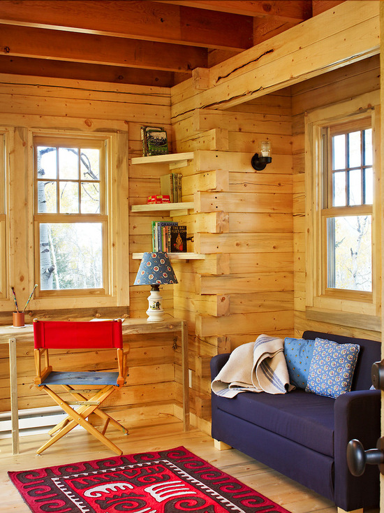18 Great Cabin Home Office Design Ideas in Rustic Style - rustic home office, Rustic Design Ideas, Rustic Decor Ideas, rustic deck, Rustic Cabin Living Room, Home Office Design and Decor Ideas, Home Office Design, Cabins, cabin home office