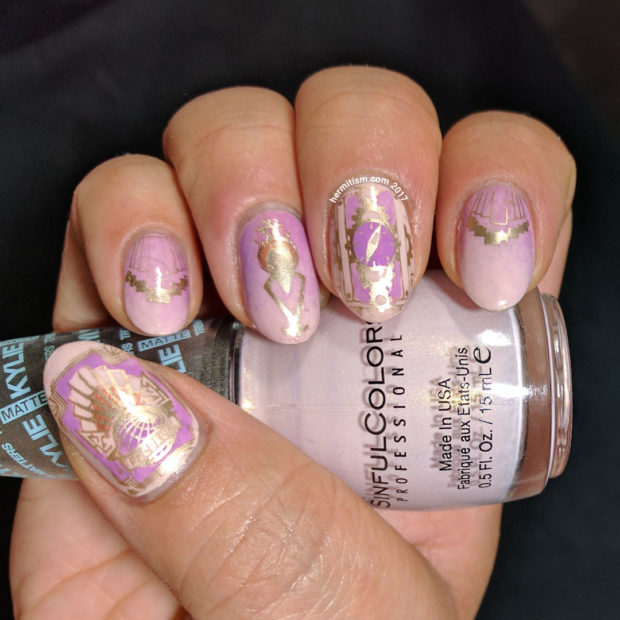 20 Great Nail Art Ideas: Mix of Lilac, Pink and Gold Colors - 20 Great Nail Art Ideas: Mix Of Lilac, Pink And Gold Colors - Style