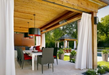 Outdoor Decor: 13 Amazing Curtain Ideas for Porch and Patios - porch decor, patio decor, outdoor decoration, outdoor decor, outdoor curtains, curtains, curtain