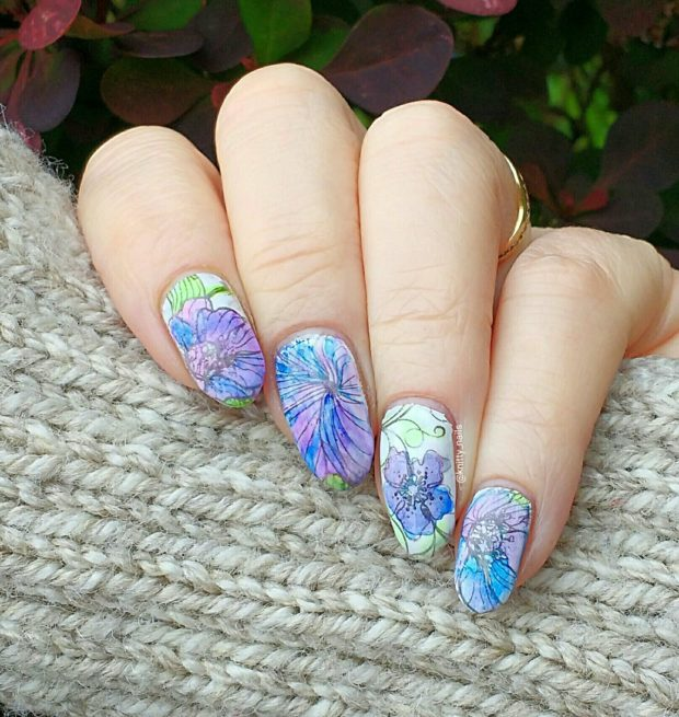 Spring Nails: Colorful Watercolor Nail Art Ideas
