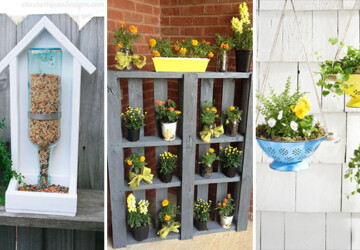 15 Creative DIY Ideas That Will Transform Your Garden - transform, Projects, Planter, landscape, ideas, garden, flowers, diy, crafts, crafting, backyard