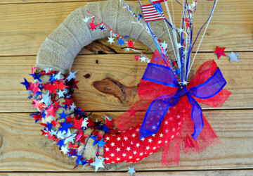 17 Easy Patriotic 4th of July Crafts - diy 4th of July decorations, 4th of July party, 4th of July diy wreath, 4th of July diy decor, 4th of July centerpiece, 4th of July, 4th july