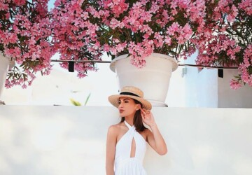 20 Amazing Ideas How To Wear Panama and Floppy Summer Hats - summer outfit ideas, summer hat outfit, hat outfit ideas, Black Hat