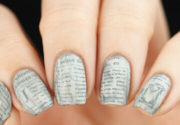 Words on Your Nails: 16 Vintage Nail Art Ideas Inspired By Books - words nail art, vintage nail art, nail art ideas, books nail art, book nail art