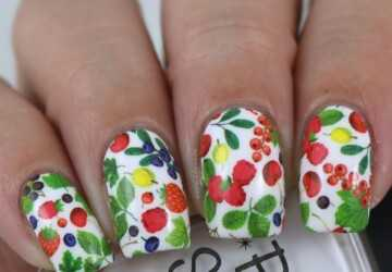 Fruits on Your Nails- Cute Summer Nail Art Ideas - summer nail design, summer nail art, fruit nail art ideas