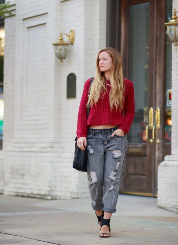 All Eyes On You With Cropped Jeans - women, woman, trendy, legwear, jeans, fashion, cropped jeans, cropped, chic, boho