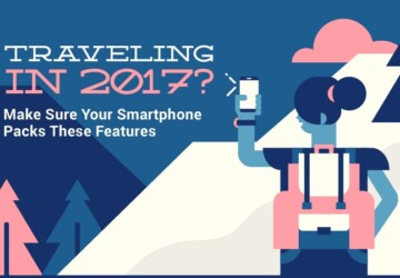 Traveling in 2017 - Make Sure Your Smartphone Pack These Features - travel in 2017, travel, smartphone, infographic