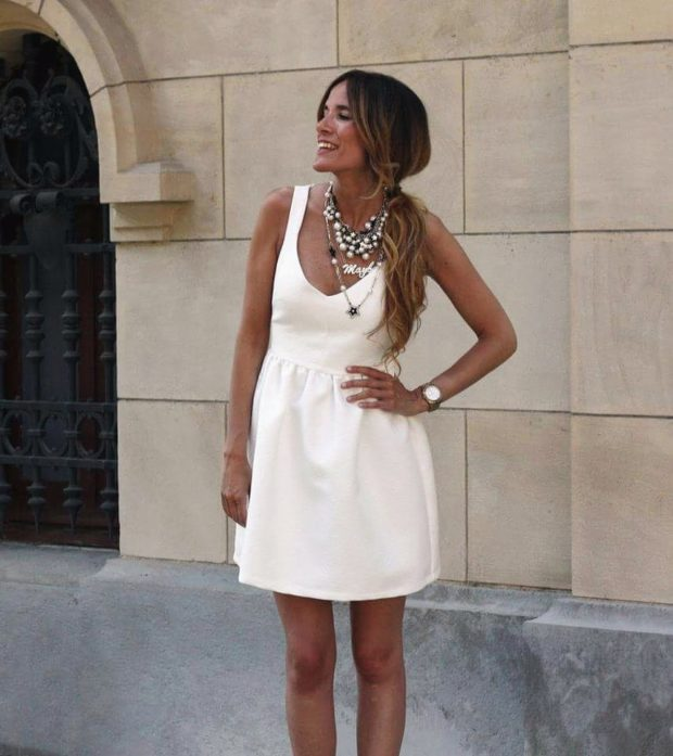 Romantic Summer Looks: 15 White Dress Outfit Ideas