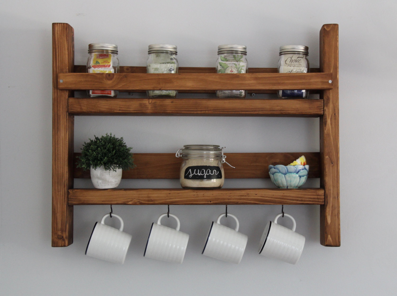 15 awesome handmade coffee mug racks for the coffee for Mug racks ideas