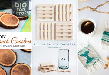 15 Cool DIY Coasters That You Should Craft Right Now - tutorials, trivet, Projects, ideas, hacks, diy, detail, decor, crafts, crafting, coasters, coaster, accent