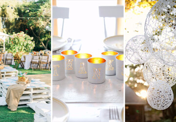 15 Creative DIY Ideas For An Outdoor Summer Wedding - wedding, outside, outdoors, outdoor, marriage, handmade, DIY ideas, diy, decor, crafts, celebration