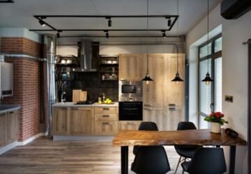 15 Sensational Kitchen Designs In The Industrial Style You Must See - loft, kitchen, interior, industry, industrial, flat, concrete, apartment