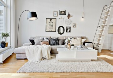 15 Splendid Scandinavian Living Room Designs That Will Give You Ideas - White, sitting, scandinavian, Scandi, modern, luxury, Living room, living, interior, family, contrast, Black, apartment