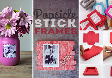 16 Nifty DIY Picture Frame Projects You Should Try - Projects, picture, photo, ideas, handmade, handcrafted, frames, frame, diy, crafts, crafting