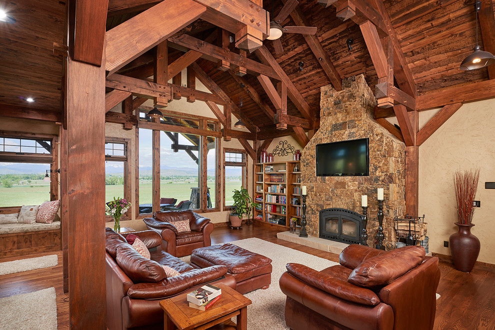 17 Stunning Rustic Living Room Interior Designs For Your Mountain ...