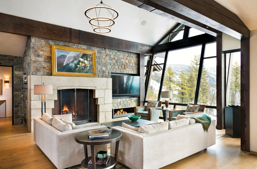 17 Stunning Rustic Living Room Interior Designs For Your Mountain Cabin