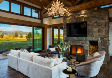 17 Stunning Rustic Living Room Interior Designs For Your Mountain Cabin - sitting, rustic, room, mountain, luxury, Living room, living, interior, house, home, family, cabin