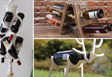 18 Terrific Handmade Wine Rack Designs You Really Need In Your Home - wine rack, wine bottle, wine, wall-mounted, tabletop, Storage, shelf, rack, handmade, glass, display