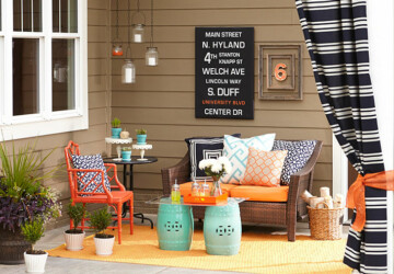 DIY Outdoor Projects: 15 Colorful Porch Ideas (Part 1) - porch ideas, Porch Decor Ideas, diy porch, diy outdoor furniture, diy outdoor