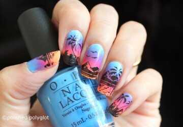 17 Tropical Nail Art Ideas Inspired by Beach - summer nail design, summer nail art, sea nail art, neon summer nail art, beach nail art