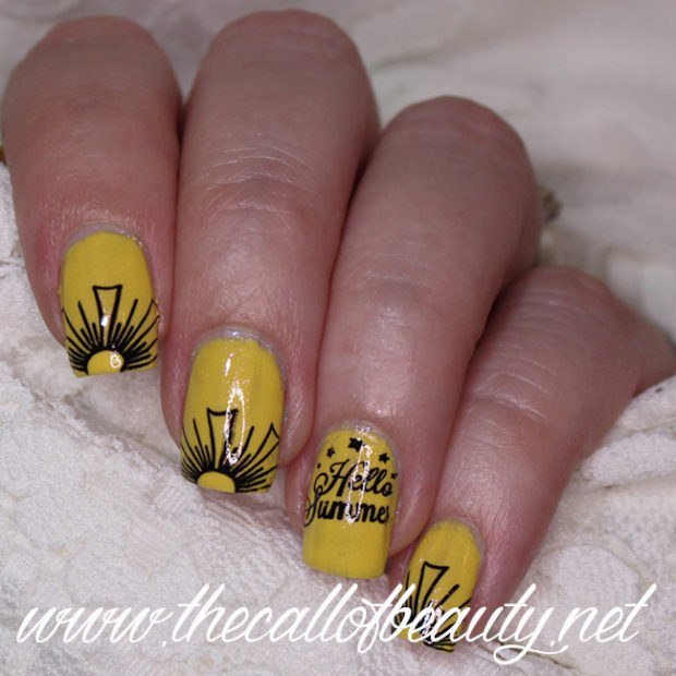 15 Cheerful Sunshine Nail Art Ideas