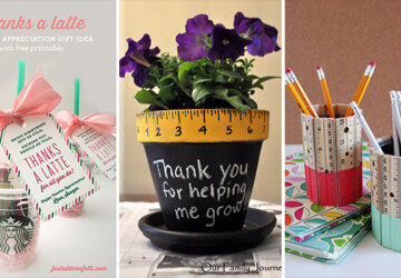 15 Beautiful DIY Gifts For Teacher Appreciation Day - teacher gift, teacher appreciation day, teacher, school, ideas, gifts, gift, diy, crafts, crafting