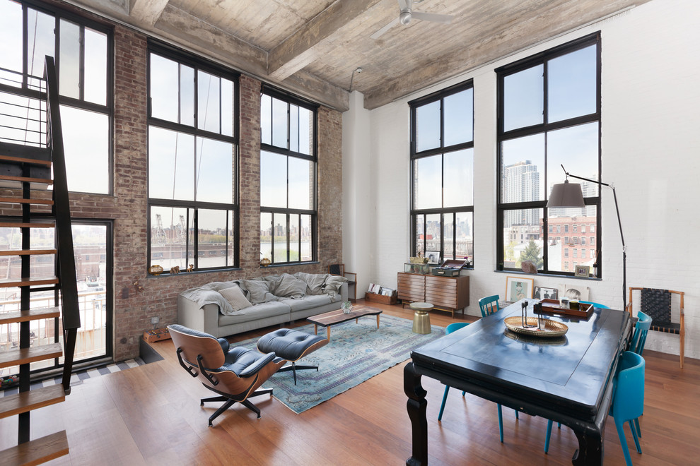 The Living Room Williamsburg Part - 33: Brooklyn, NY: Williamsburg Loft. 15 Spectacular Industrial Living Room ...