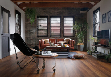 15 Spectacular Industrial Living Room Designs That Will Inspire You - sofa, sitting room, sitting, loft, Living room, living, interior, industry, industrial, family room, family, factory, couch, coffee table, bricks, apartment