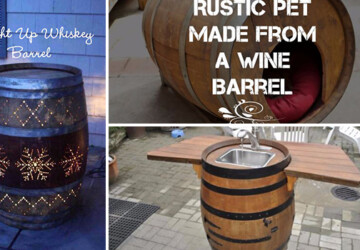 16 Amazing DIY Ideas Made From Repurposed Wine Barrels - wine barrel, wine, tutorials, Storage, stave, Projects, ideas, furniture, diy, decor, crafts, crafting, barrel