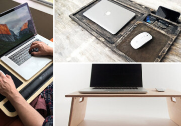 16 Awesome Lap Desk Designs That Will Make You Have A Lazy Day In Bed - tray, stand, laptop tray, laptop desk, laptop, lapdesk, lap desk, desk, breakfast tray, bed tray