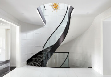 16 Compelling Staircase Designs That Sparkle With Elegance - wood, stairwell, Stairs, staircase, rustic, modern, interior, hallway, hall, glass, contemporary