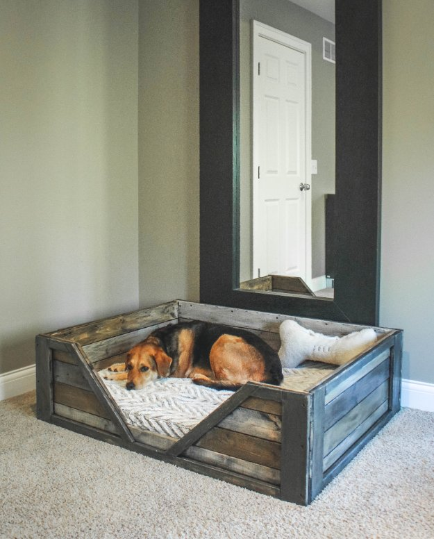 16 Lovely DIY Dog Bed Ideas Your Puppy Needs