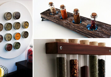 16 Practical Handmade Spice Rack Ideas That Will Help You Organize Your Kitchen - wood, Storage, spices, spice rack, shelves, shelf, rack, Organization, mason jar, kitchen, jar, handmade